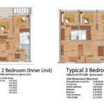 Primavera residences 2 br and 3 br floor layout