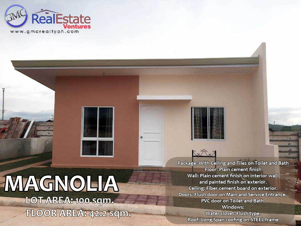2 Bedroom House with Car Park for Pag-ibig Financing