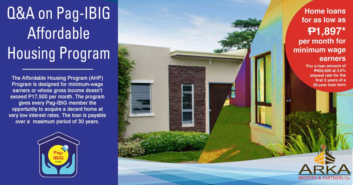 Q & A on PAG-IBIG Affordable Housing Program as of JULY 2017