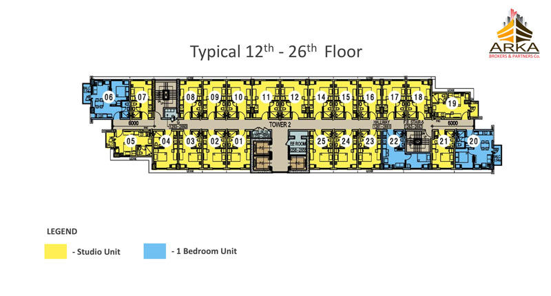 Casa mira tower cdo gmc 12th 26th floor plan
