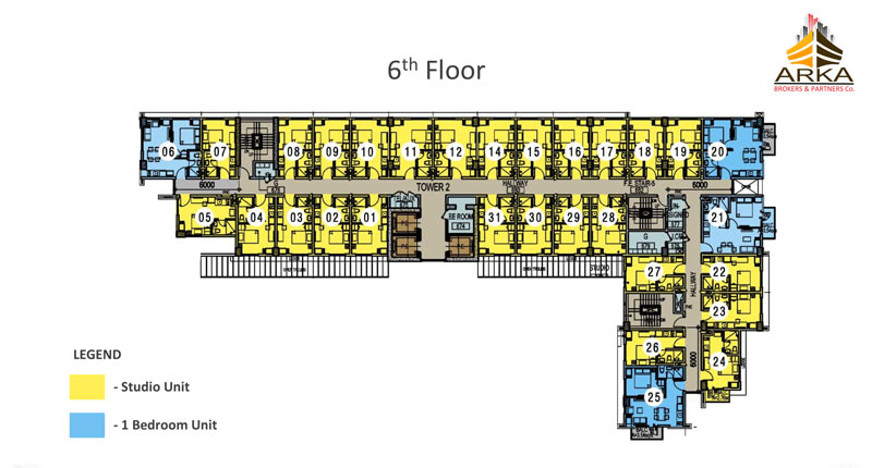Casa mira tower cdo gmc 6th floor plan