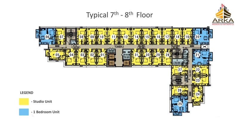 Casa mira tower cdo gmc 7th 8th floor plan