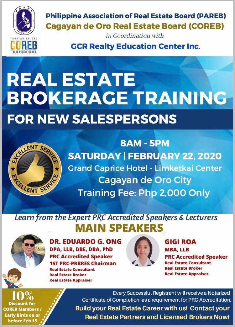 Real estatege brokerage seminar training 2020