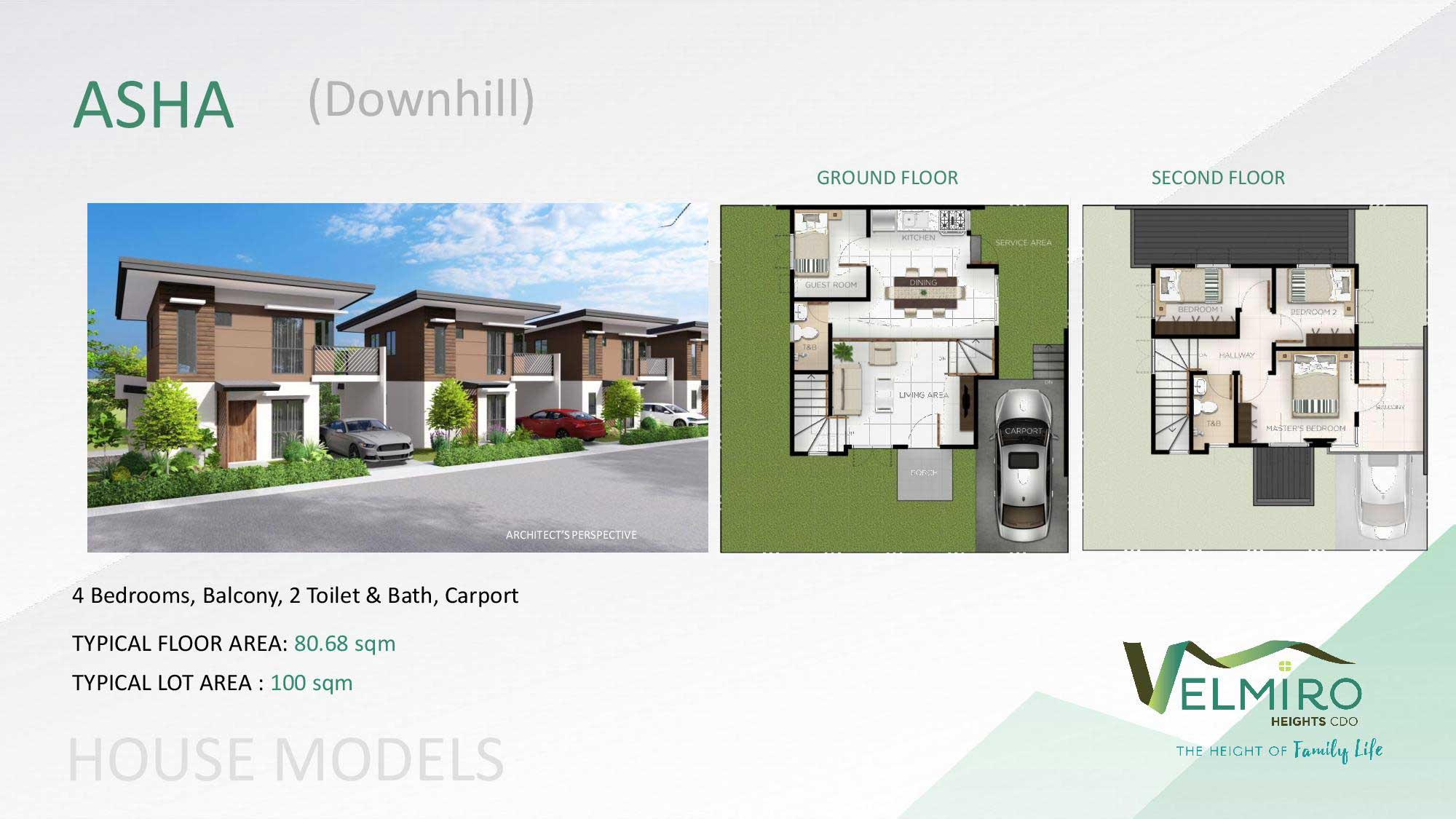 Velmiro heights agusan house model asha downhill web gmc