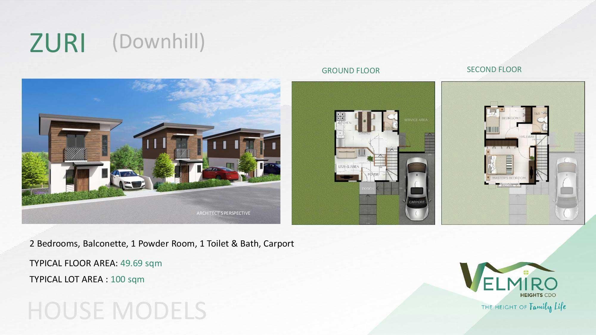 Velmiro heights agusan house model zuri downhill web gmc